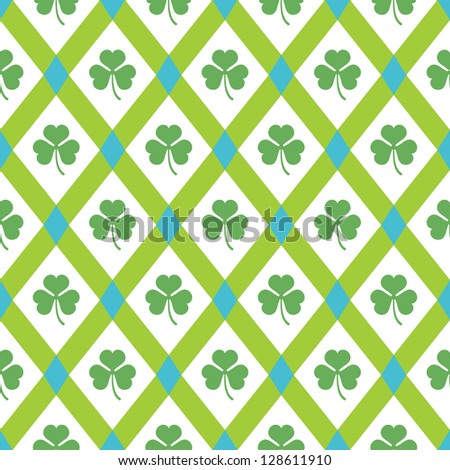 Clover pattern. Vector spring seamless background. - stock vector