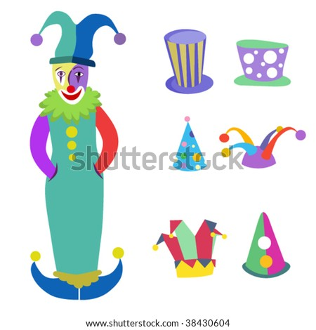 clown and hats