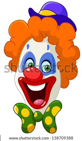 Clown face - stock vector