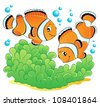Clown fish theme image 1 - vector illustration. - stock photo