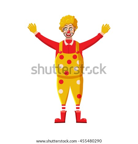 Clown icon in cartoon style on a white background - stock vector
