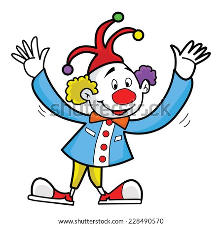 Clown isolated on white - stock vector
