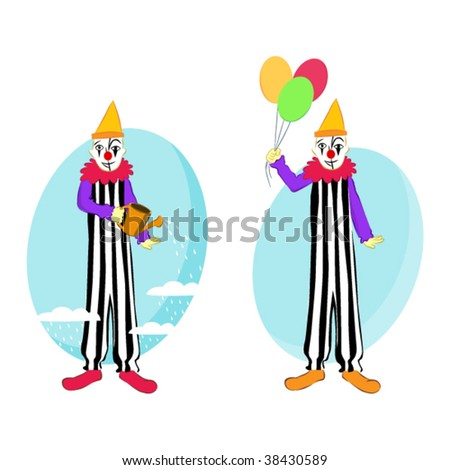 clowns - stock vector