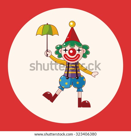 clowns theme elements - stock vector