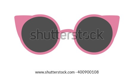 Club fashion glasses isolated on white background. Hipster fashion glasses. Fashion glasses vector illustration. Glasses isolated vector illustration. Glasses vector icons. Glasses isolated white - stock vector