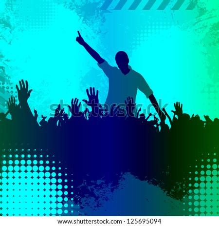 Clubbing. Vector illustration - stock vector