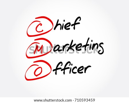 Wonderful CMO   Chief Marketing Officer, Acronym Business Concept Background