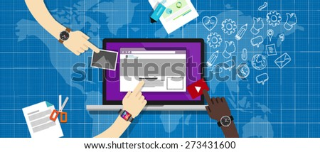 cms content management system - stock vector