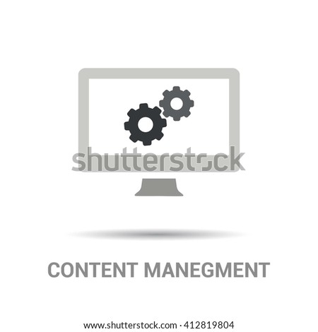cms content management system vector - stock vector