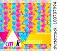 CMYK abstract background vector copyspace - stock photo