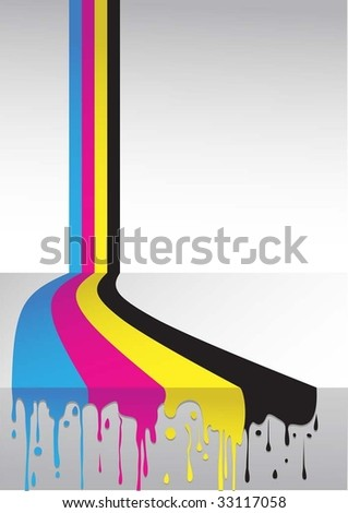 cmyk flow - stock vector