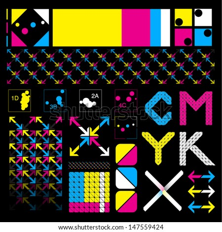 CMYK Item Set - stock vector