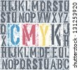 CMYK letterpress poster. Vector, EPS8 - stock vector