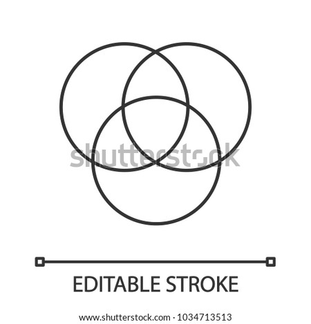 Cmyk Rgb Color Circles Linear Icon Stock Vector Hd Royalty Free