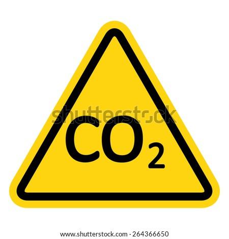 CO2 Hazard Sign  - stock vector