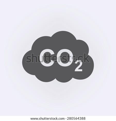 CO2 icon - stock vector