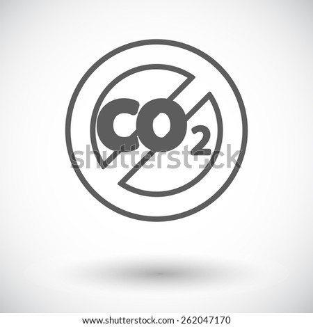 CO2 icon. Single flat icon on white background. Vector illustration. - stock vector