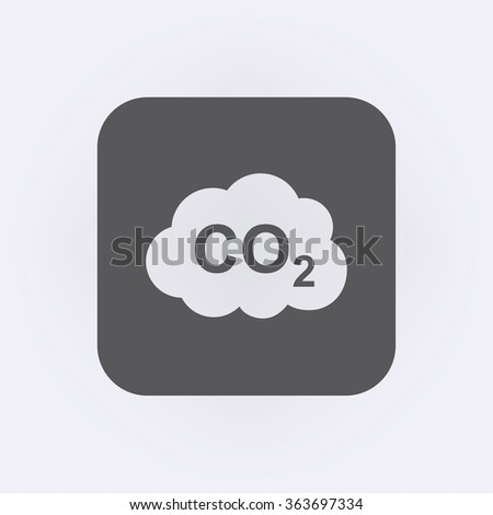 CO2 icon . Vector illustration - stock vector