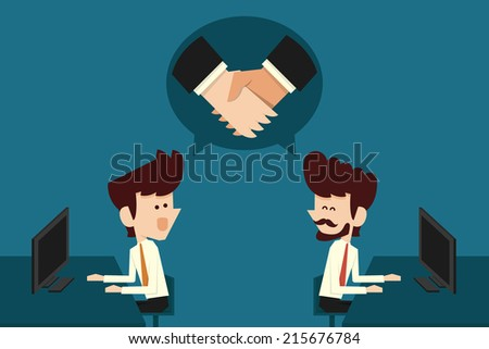 Co-operation - stock vector