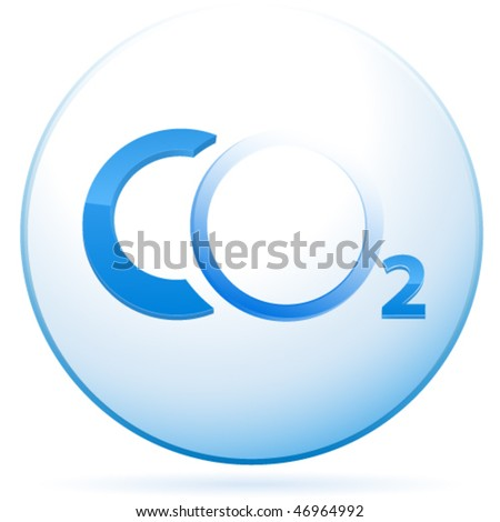CO2 sign - vector illustration - stock vector