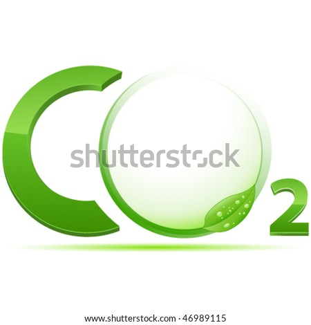 CO2 sign vector illustration - stock vector