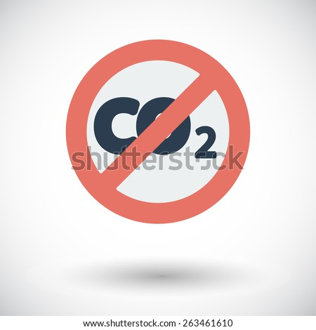 CO2. Single flat icon on white background. Vector illustration. - stock vector