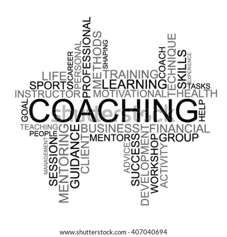Coaching tag cloud - stock vector