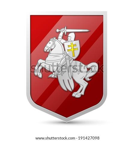 Coat of arms Belarus - stock vector