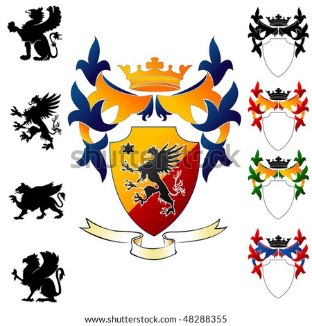 Coat of Arms - Griphon - stock vector