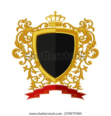 Coat of arms in modern flat style. Vector illustration.  - stock vector