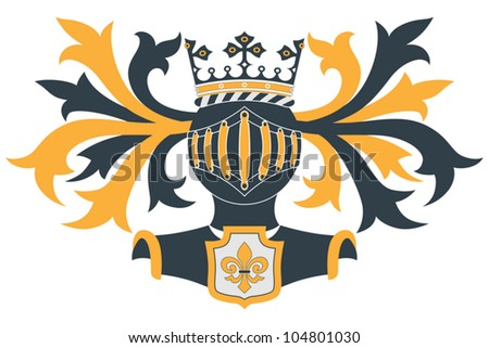 Coat of arms (Knight helmet and shield)
