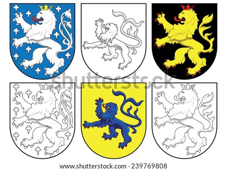coat of arms - lions - stock vector
