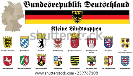 coat of arms of Federal Republic of Germany - stock vector