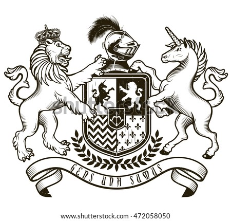 coat arms knight vector illustration stock vector royalty free rh shutterstock com coat of arms vectors photoshop coat of arms vector pack
