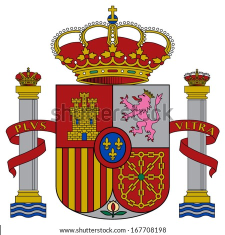 Coat of arms of Spain. Vector.  Accurate dimensions, elements proportions and colors.