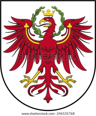 coat of arms of Tirol - stock vector