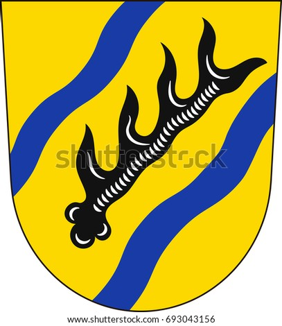 Coat Arms Waiblingen Town Southwest Germany Stock Vector 693043156