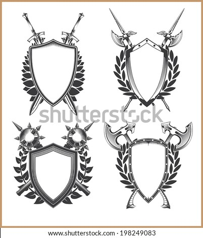 Coat Arms Template Stock Vector 198249083 - Shutterstock