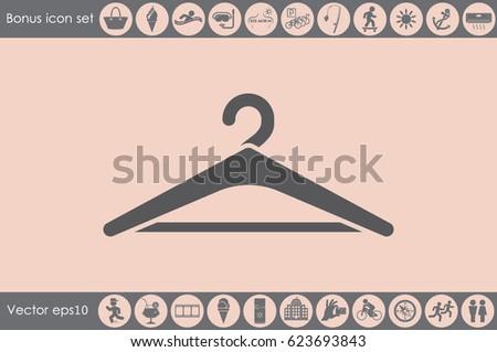 Coat Rack Symbol Hanger Icon Vector Stock Vector 623693843