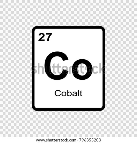 Cobalt Chemical Element Sign Atomic Number Stock Vector Hd Royalty
