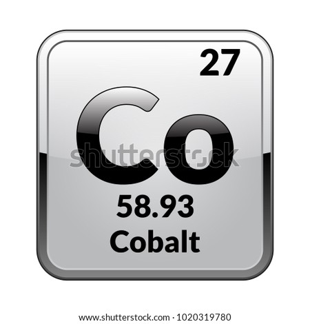 Cobalt symbolchemical element periodic table on stock vector 2018 cobalt symbolemical element of the periodic table on a glossy white background in a urtaz Image collections