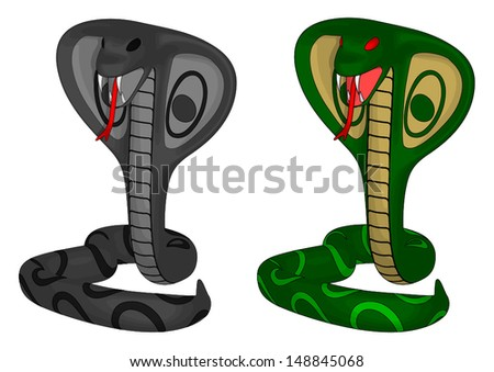Cobra isolated on a white background. - stock vector
