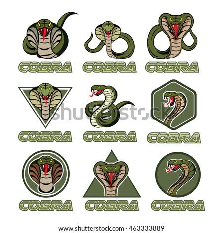 cobra logos stock vector 463333889 shutterstock rh shutterstock com cobra logistics nj cobra logo images