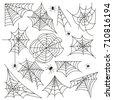 cobweb set spider web halloween ...