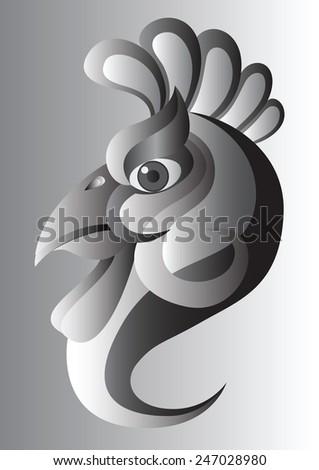 cock gradient vector  - stock vector