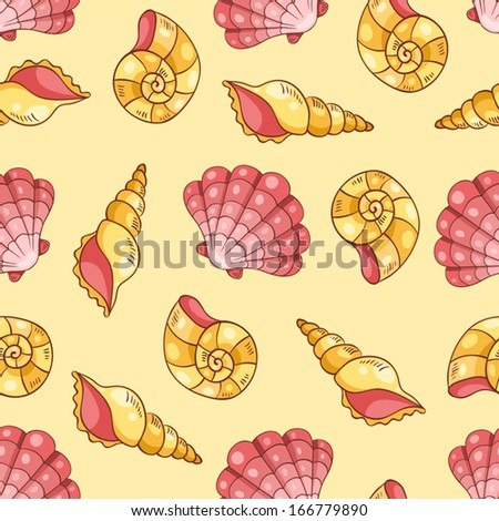 Seamless pattern on the yellow vector background stock vector
