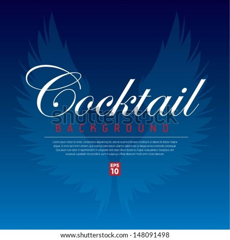 Cocktail background - stock vector