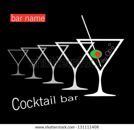 Cocktail bar - stock vector