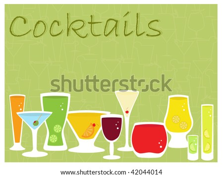 cocktail collection - stock vector