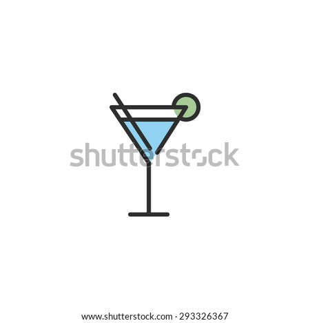Cocktail  | Flat Designed Icon